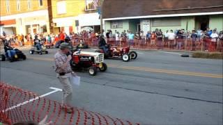 V8 mower drag race.