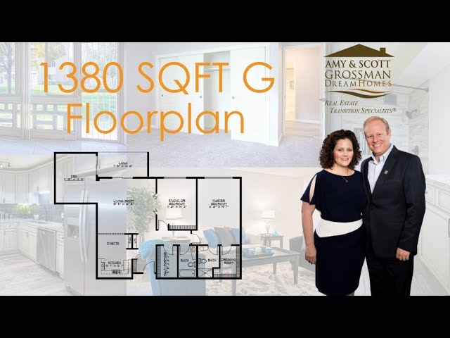 Windsor Gardens 2 bedroom/2 bathroom - video is 1380 sq ft and similar to 1200 sf with no den