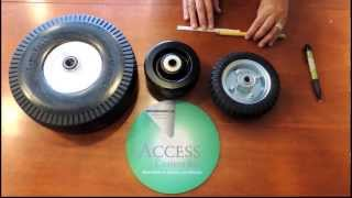 Access Casters - How to measure the length of a caster wheel hub