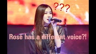 Blackpink Rosé uses a fake singing voice ??? (Spoiler: not really)