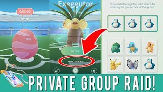 Pokemon GO Gym Raids Private Group Tutorial! How To Use Private Groups in Battle Raids System