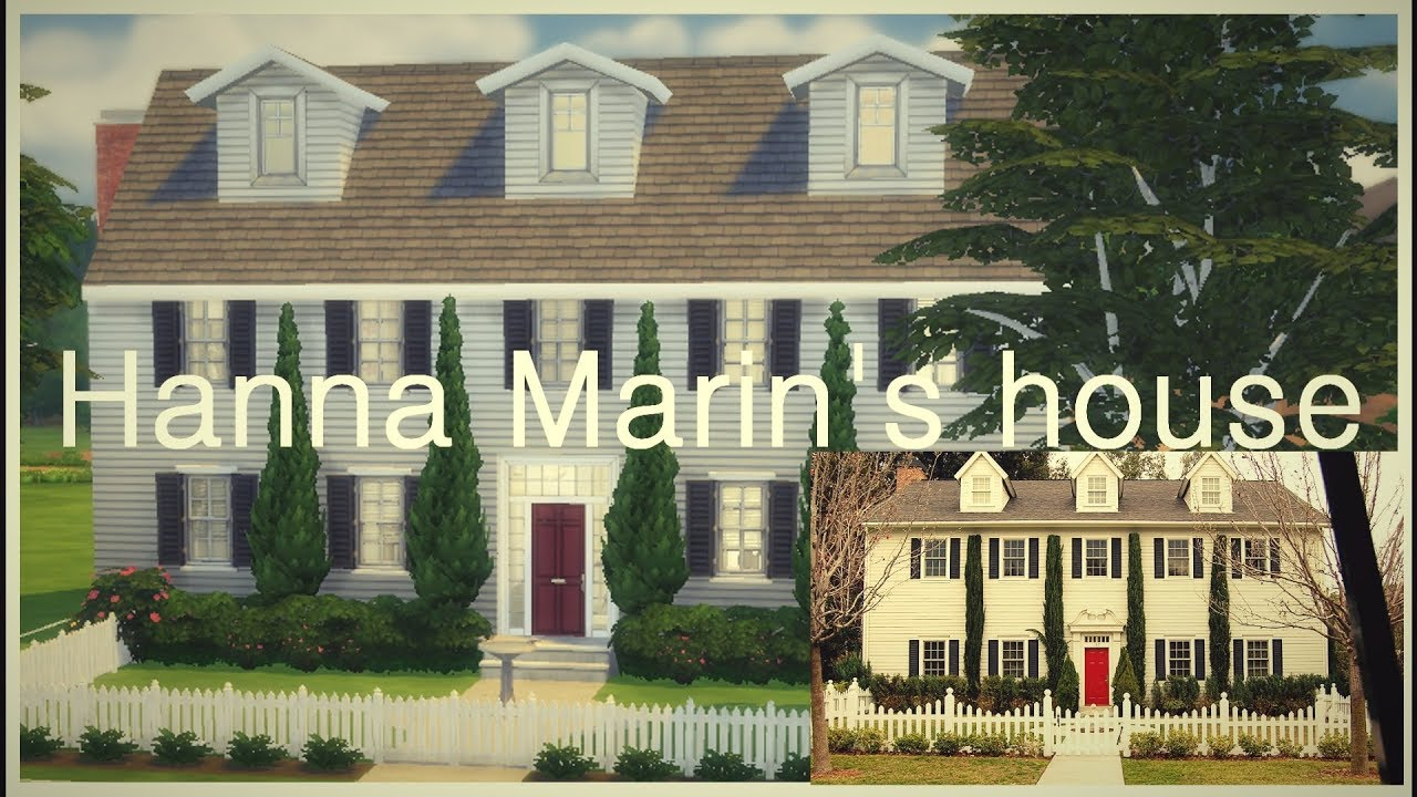 The Sims 4 Hanna Marin S House Pll Part 1 Youtube