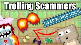 Trolling Scammers !! Did Legends Scam?   Growtopia