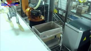 Robotised box packing - Bread