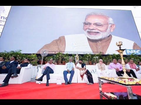 "Hon'ble PM of India - Shri Narendrabhai Modi at ""HK Group SKILL INDIA INCENTIVE CEREMONY"" 2018"