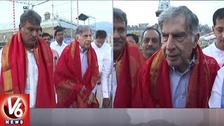 Tata Group Ex Chairman Ratan Tata & Chairman Natarajan Offers Special Prayers At Tirumala | V6 News