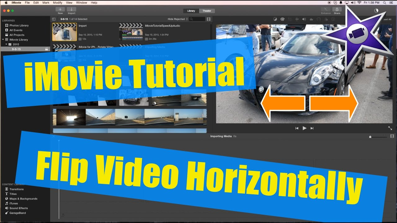 Imovie tutorial how to horizontally flip a video in imovie youtube ccuart Images