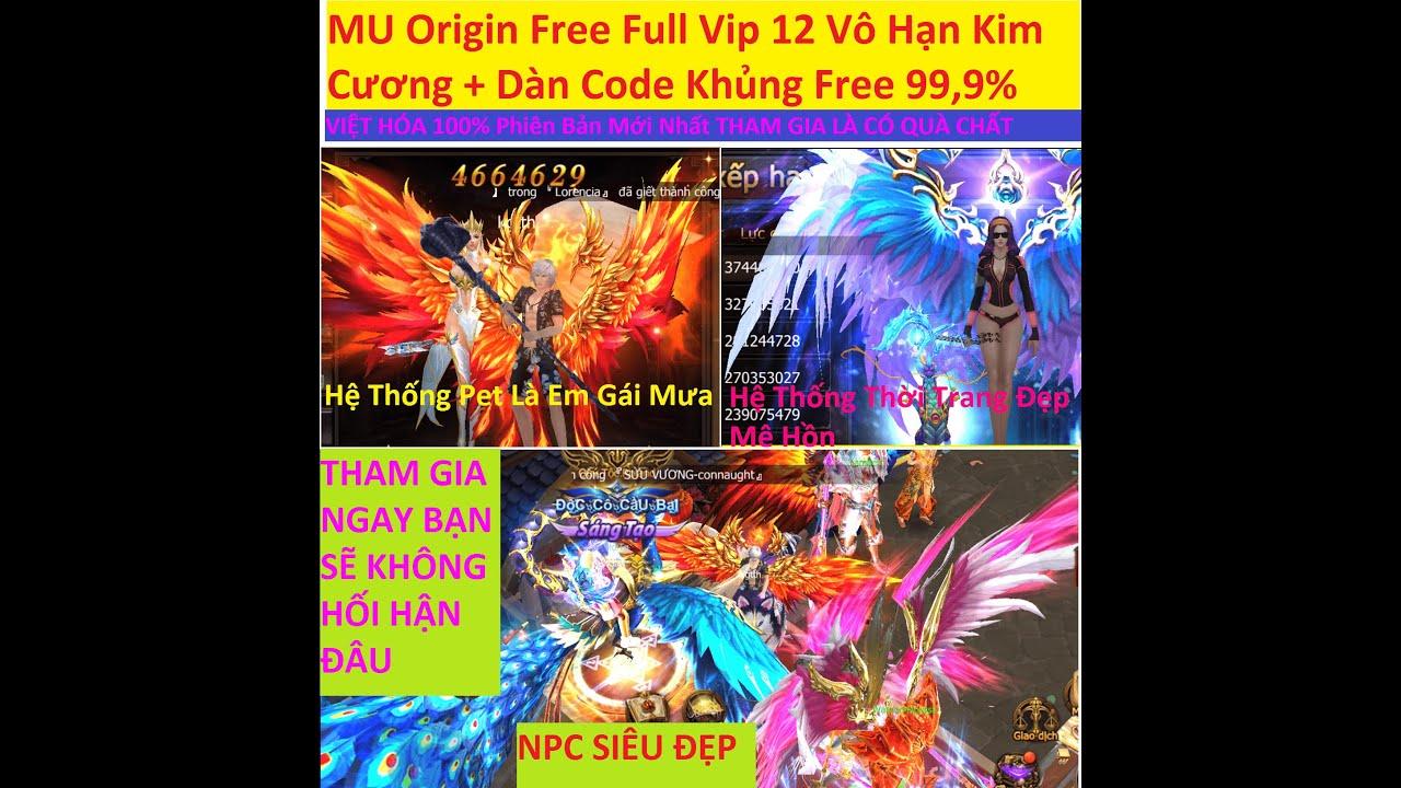 Game Lậu Mobile 2020 MU Origin Free Full Vip 12 Vô Hạn Kim Cương + Dàn Code Khủng