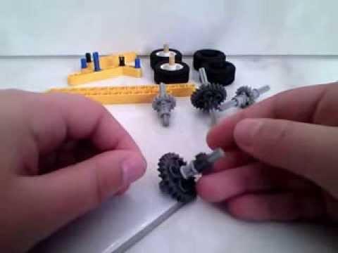 lego technic aufziehbarer rennwagen bauanleitung youtube. Black Bedroom Furniture Sets. Home Design Ideas