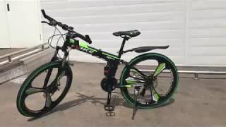 Велосипед складной (зелено-черный). Make (Мейк) обзор