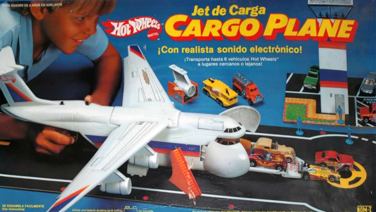 Jet cargo plane de hot wheels comercial de tv 80s youtube - Avion hot wheels ...