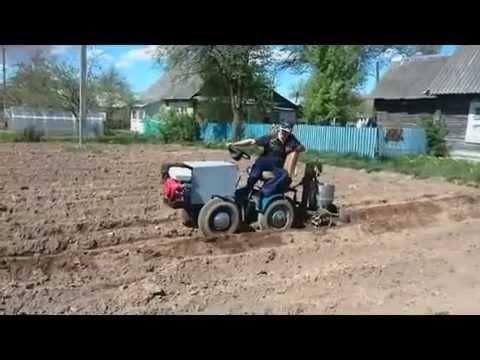 видео: Картофелесожалка самодельная