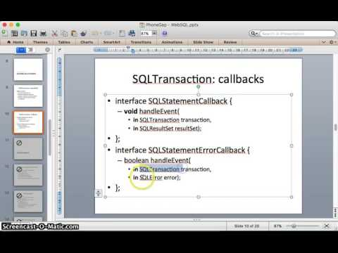 Selecting data from Web SQL (SQLite) Table Using JavaScript Tutorial thumbnail