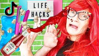 VIRAL Tik Tok Character fails at POPULAR life hacks! Funny Evil Friend Prank