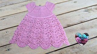 Robe princesse crochet toutes tailles 1/2 / Princess dress crochet all sizes (english subtitles) thumbnail