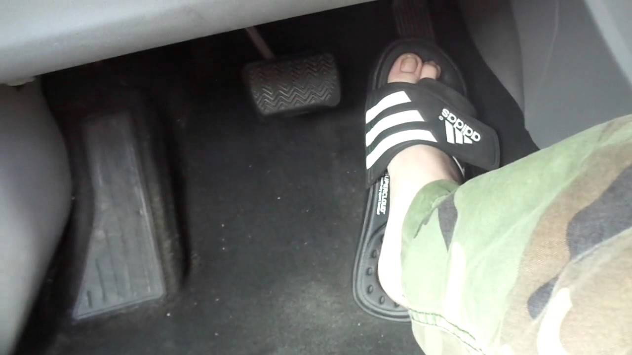 e9a72992d Driving flooring in Adidas Sandals - YouTube
