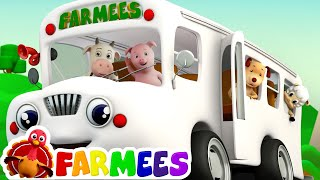 The Wheels On The Bus | Songs for Children Compilation | Kids Songs by Farmees S01E49