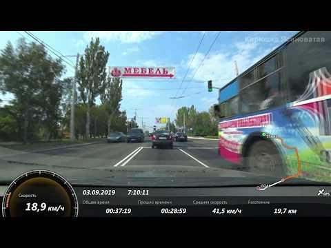 Ясиноватая-Донецк с GPS