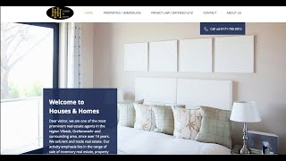Houses and Homes Website Design