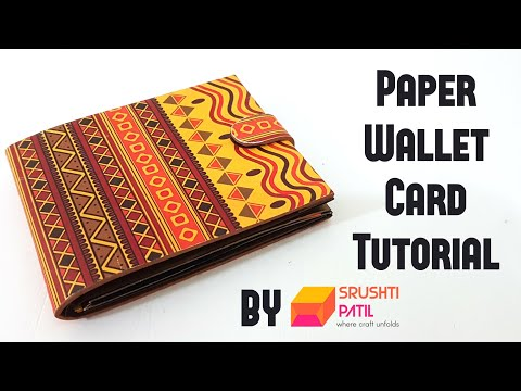 Paper Wallet Card Tutorial by Srushti Patil | Eco-friendly Photo Wallet