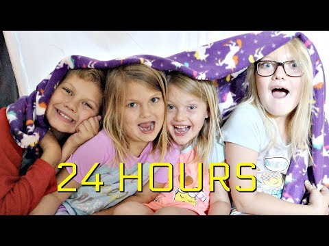 24 Hours in a Blanket Fort!