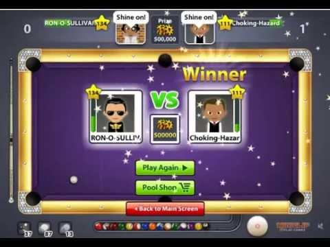Ronnie O Sullivan VS Choking Hazard for his Miniclip 8 ball pool legend award. Amazing game of indi.