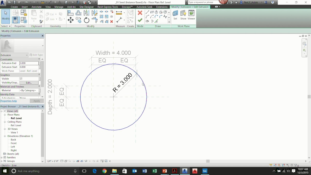 Taming Parametric Curves in Revit Family Editor - Flexing Circles and  Ellipses