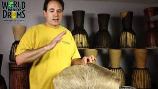 Djembe Repair & Rehead - Soaking Goat Skin for Djembe African Drum
