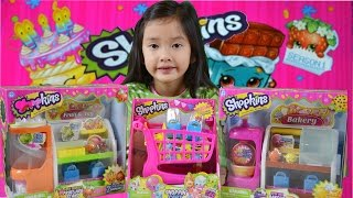 Shopkins™ | Fruit And Veg Stand, Shopping Cart, & Spin Mix Bakery Stand