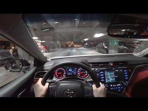 2018 Toyota Camry XSE V6 Night Drive - POV First Impressions (Binaural Audio)