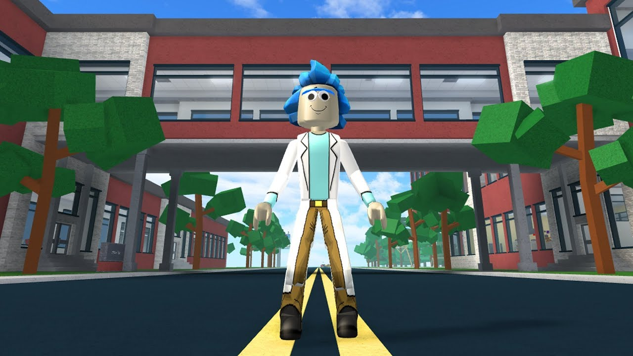 HOW TO BE RICK SANCHEZ (RICK AND MORTY) IN ROBLOXIAN HIGHSCHOOL!!