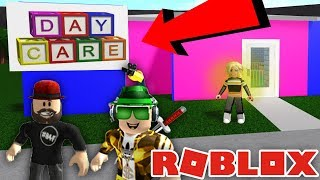 We Went To The Creepy Daycare And The Owner Had A Scary Secret (Roblox Bloxburg)