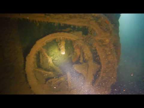 Wreck Penetration  at 35 metres