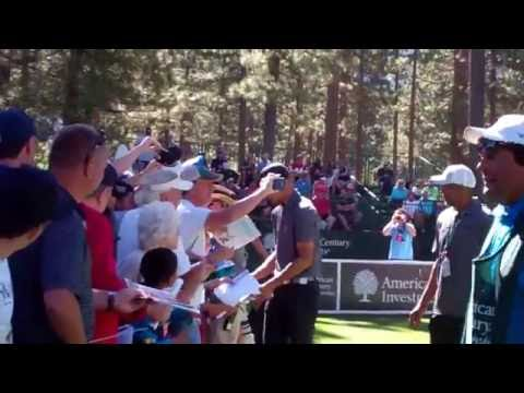 Stephen Curry signing at 2016 Lake TAhoe American Century golf event