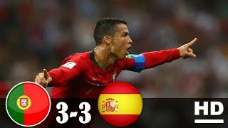 PORTUGAL vs SPANYOL 3-3 All Goals & Highlights 16 Juni 2018