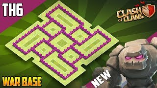 New Base Town Hall 6 [TH6] TROPHY/WAR Base 2018!! COC BEST Th6 Trophy Base Design - Clash of Clans