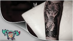 Lone Wolf Tattoo Time Lapse
