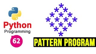 Python 3 Pattern Program 5 - Printing Stars in Diamond Shape