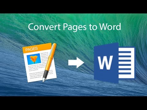 Convert Pages To Microsoft Word Document