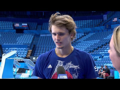 Alexander Zverev practice session | Mastercard Hopman Cup 2018