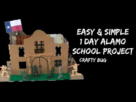 EASY Alamo middle school project; simple kids Alamo project tutorial; 1 day Alamo project ideas