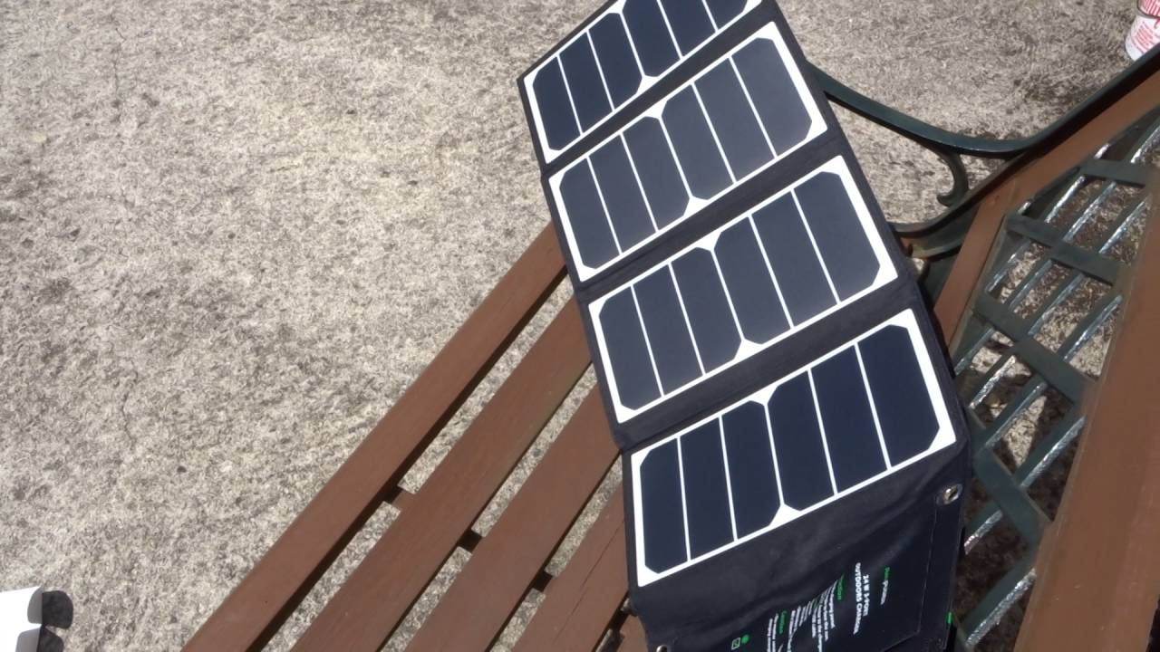chargeur solaire ravpower 24w
