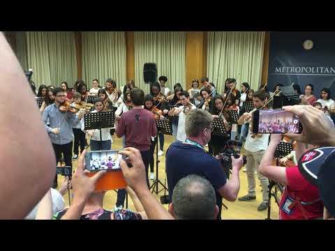 Alexander Rybak in Metropolitana music school, Lisbon