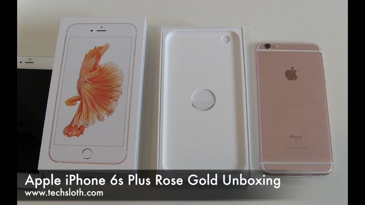 apple iphone 6s plus rose gold unboxing youtube. Black Bedroom Furniture Sets. Home Design Ideas