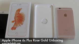Apple iPhone 6s Plus Rose Gold Unboxing