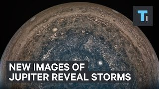 New images of Jupiter reveal white storms in its south pole