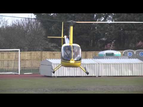 Helicopter dries Footes Lane out - Guernsey FC vs Spennymoor Town FC