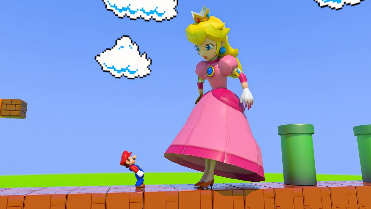 Download Princess Peach eats a Giant Mushroom and then this happened