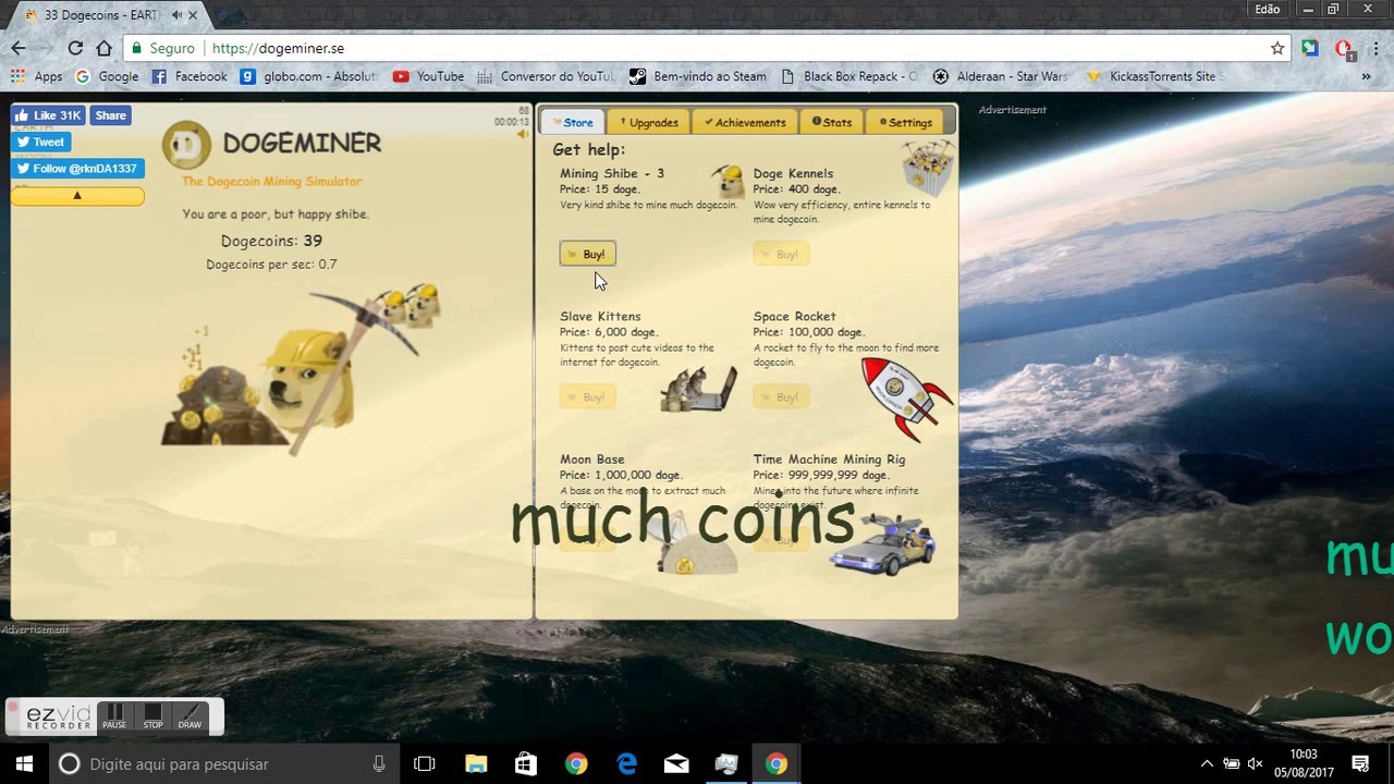 como zerar dogeminer youtube