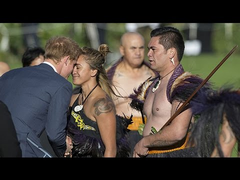 Prince Harry's ancient warrior welcome in NZ